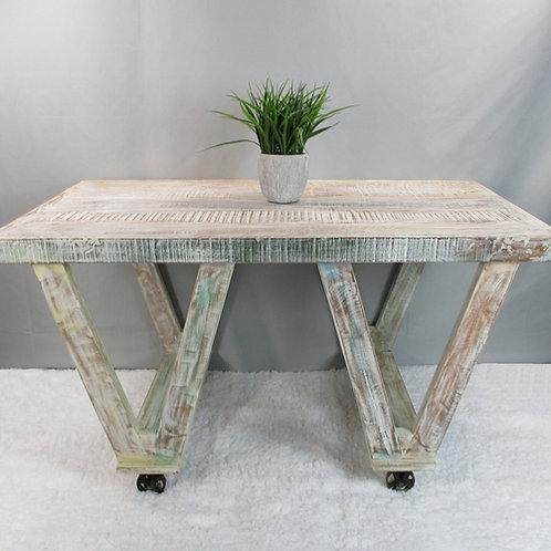 White Wash Coffee Table on Wheels (MDA-20-306C)