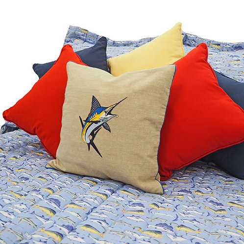 Sport Fish Blue Marlins and Yellow Tuna Coverlet