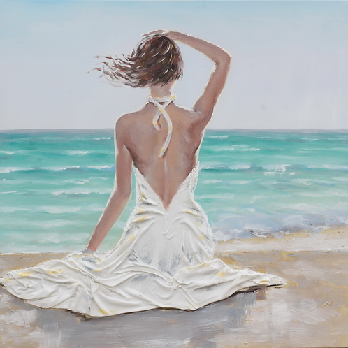 Woman Sitting by the Water