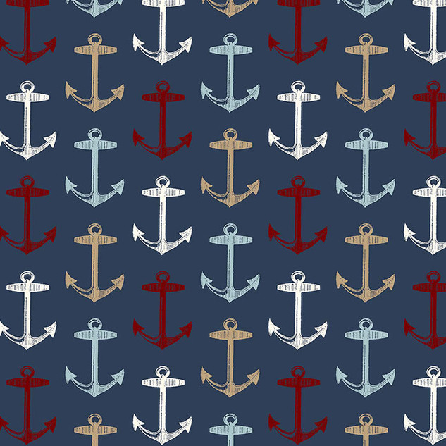Multi Anchors on Navy