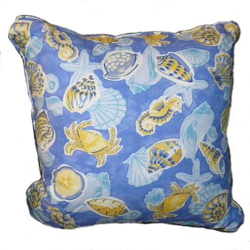 Blue/Yellow Sealife Pillow