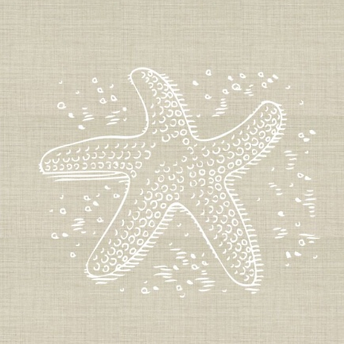 Starfish Embroidered Pillow Cover