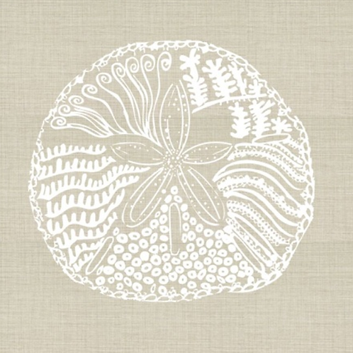 Sand Dollar Embroidered Pillow Cover