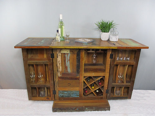 Reclaimed Wood Bar Cabinet and Space Saver (MDA-143)