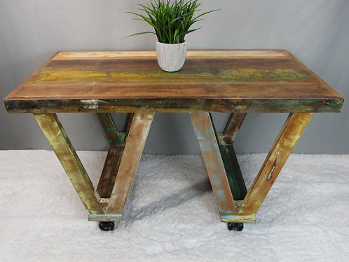 Multi Colored Coffee Table on Wheels (MDA-20-306)