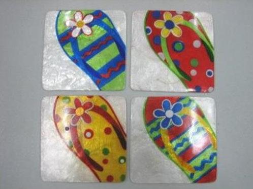 Flip Flop Coasters Set of 4