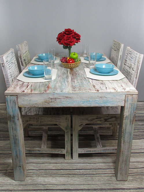 White Wash Wood Finish Dining Room Table (MDA-20-20C)