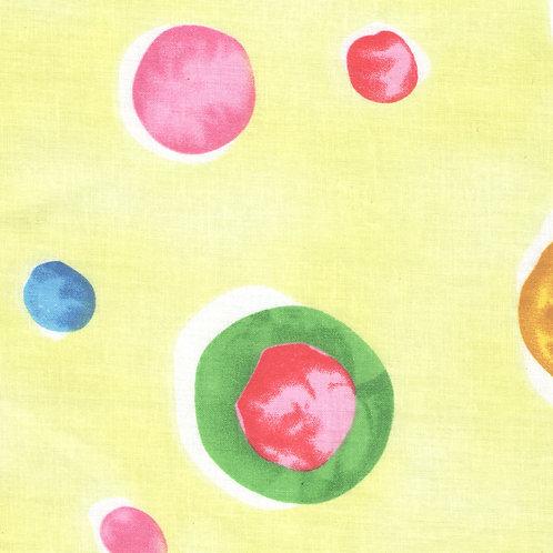 Yellow Dot Balloon Valance or Curtains