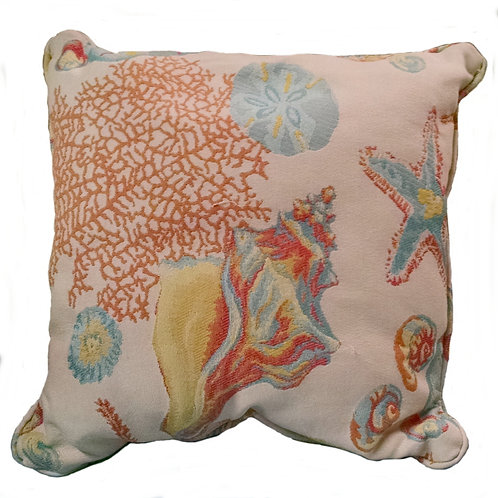 Sandy Cove Multi-Color Indoor/Outdoor Pillow