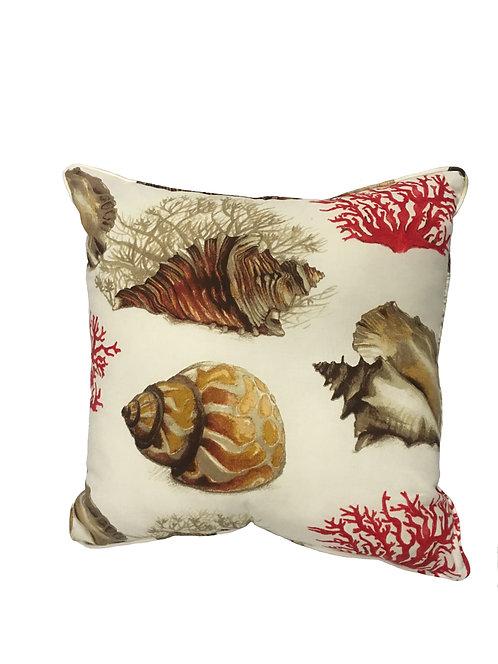 Buccin Natural Throw Pillow