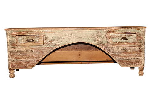 Natural Tan Wood Trunk Bench Box (MDA-111T)