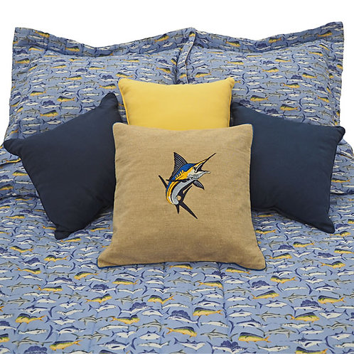 Sport Fish Blue Marlins and Yellow Tuna Bedspread