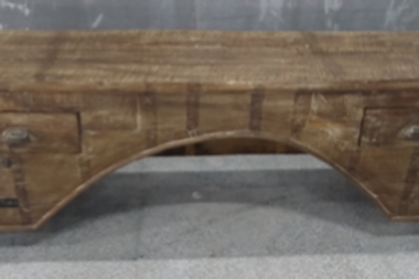Old Wood Trunk Box Bench