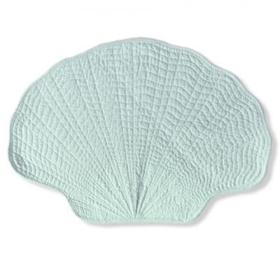 Fan Shell Placemat in Green