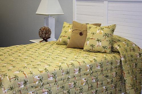 Modern Palm Earthtone Bedspread