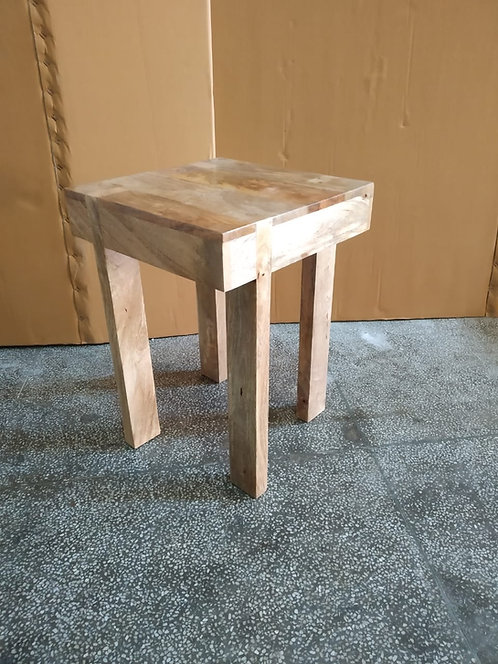 Mango Wood Natural Finish Side Table