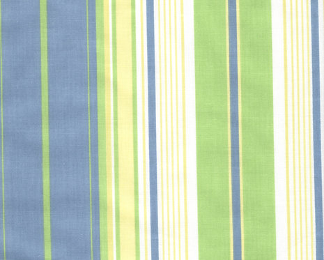 Blue/Green Stripe Fabric