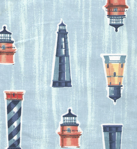 Lighthouse Pattern Fabric