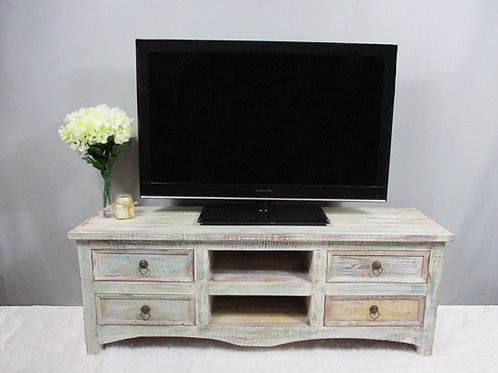 Entertainment Stand with Extra Storage in Whitewash Finish (MDA-20-113C)