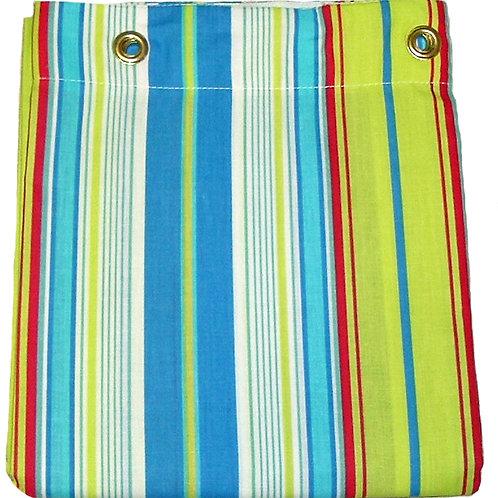 Bright Green/Blue Stripe Shower Curtain