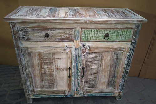 Indian Reclaimed Whitewash Wood Medium Dresser