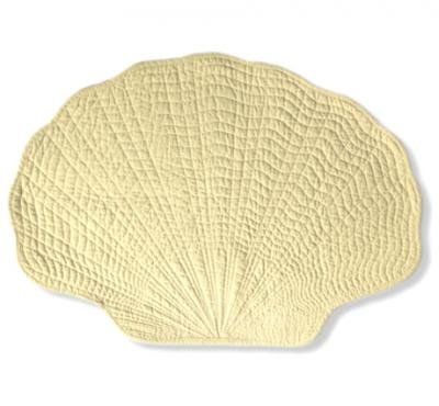 Fan Shell Placemat in Yellow