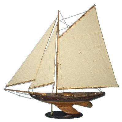 3 Sail Wood Sailboat