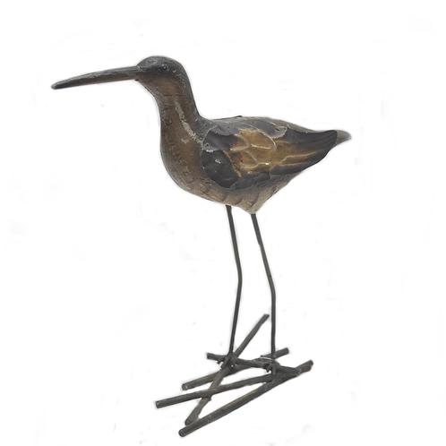 Wood & Iron Bird Table Top Decor