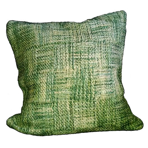 Green Lurex Blend Throw Pillow