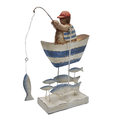 Fisherman Distressed Wood with Tin Accents