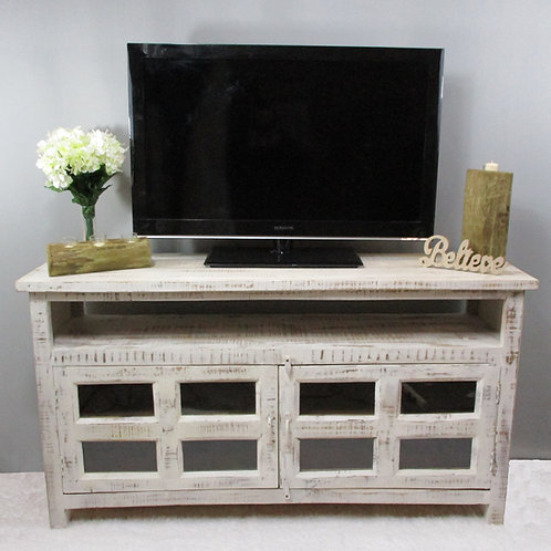 Mango White Wash Wood Entertainment Stance (MDA-106W)