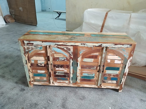 Reclaimed Wood Wide Cabinet