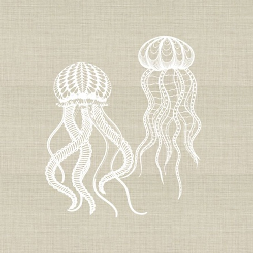 Jellyfish Embroidered Pillow Cover