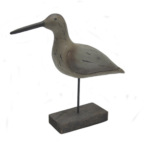 Wooden Bird with Antique Finish on Base