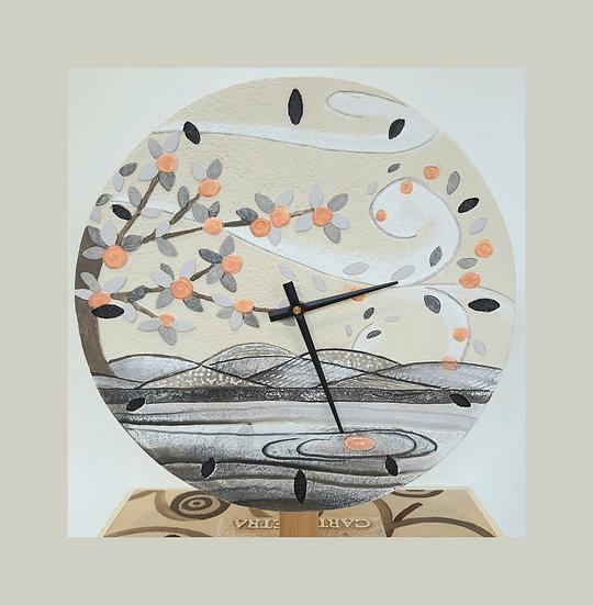 """Fuori Catalogo """"Foglie al Vento"""": orologio da parete Ø 40 cm"""