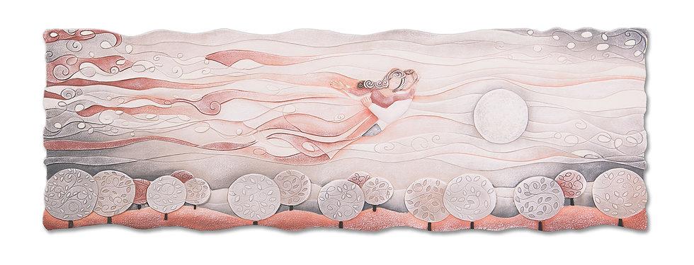 """Sogno"": quadro sagomato 150x50 cm"