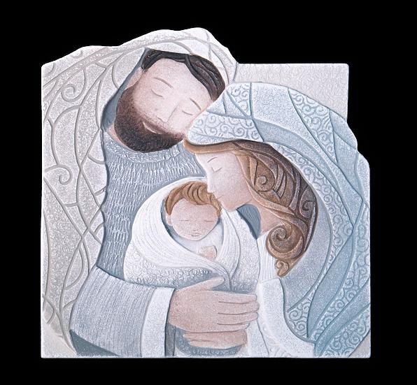 """""""Tenero Abbraccio"""": formella sagomata 26x27 cm"""