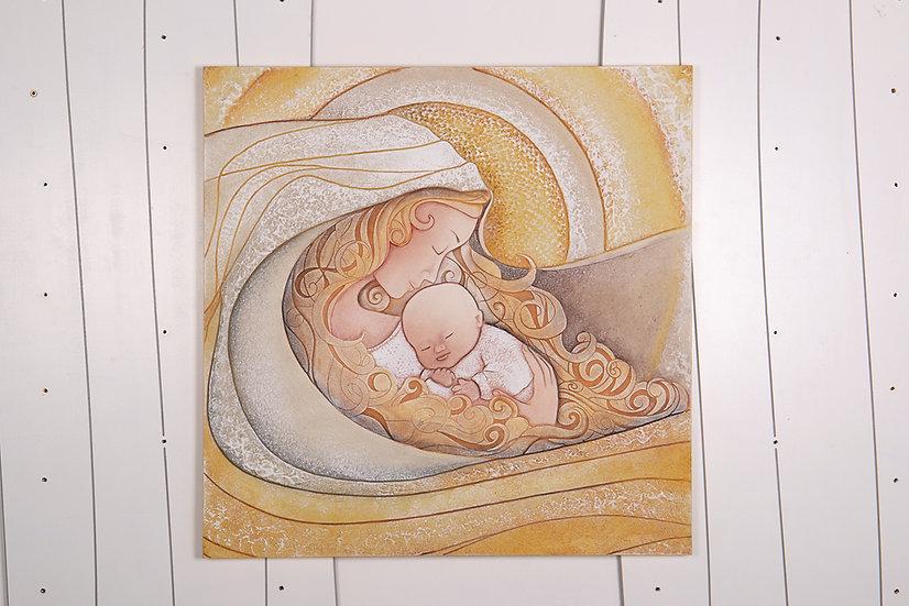 """Fuori Catalogo """"Il Bacio"""": quadro 70x70 cm"""