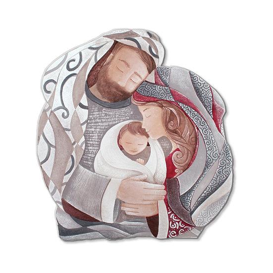 """""""Tenero Abbraccio"""": formella sagomata 60x55 cm"""