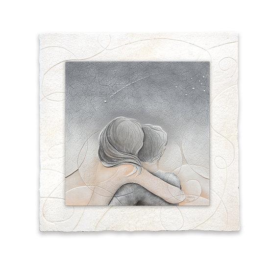"""Cielo d'Agosto"": formella 40x40 cm"