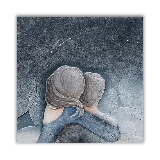 """""""Cielo d'Agosto"""": quadro 60x60 cm"""