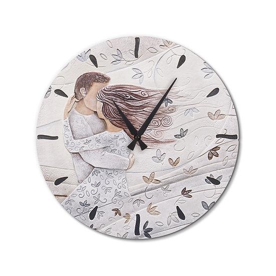 """""""Tra le Tue Braccia"""": orologio da parete ø 45 cm"""