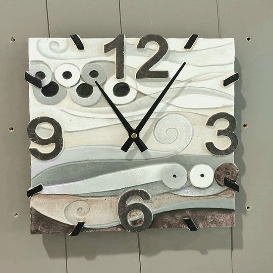 """Fuori Catalogo """"Mare"""": orologio da parete 27x27 cm"""