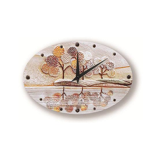 """""""Un Posto Tranquillo"""": orologio da parete 40x25 cm"""
