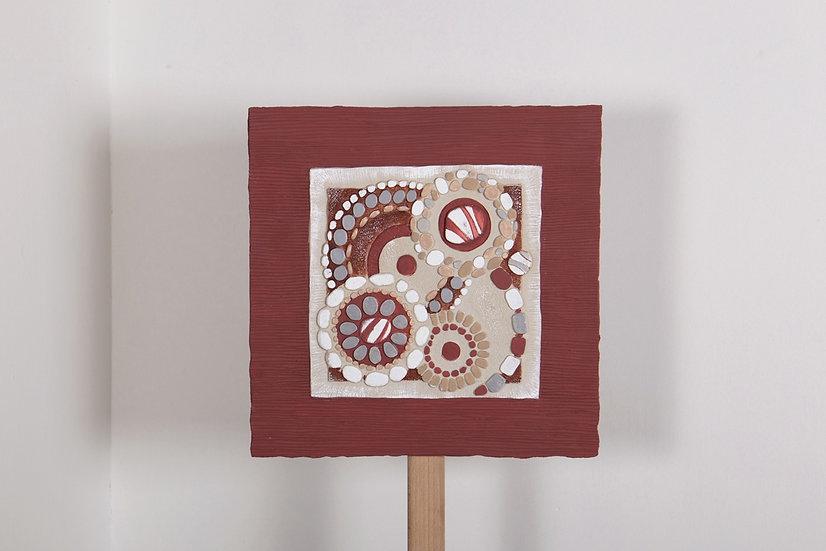 """Fuori Catalogo """"Sassi"""": formella sagomata 40x40 cm"""