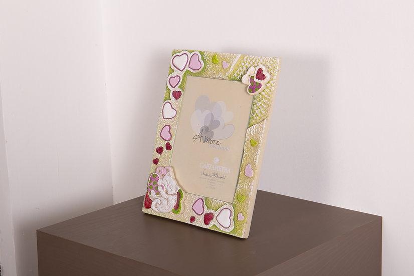 """Fuori Catalogo """"Amore"""": portafoto da appoggio/da parete 28x34 cm"""