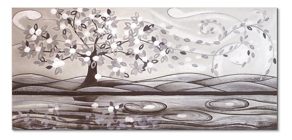 """Foglie al Vento"": quadro 150x70 cm"