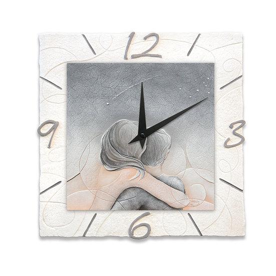 """Cielo d'Agosto"": orologio da parete 40x40 cm"