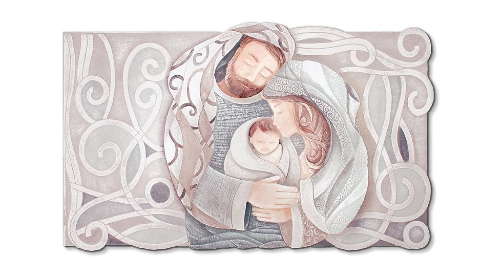 """Tenero Abbraccio"": quadro sagomato 105x60 cm"