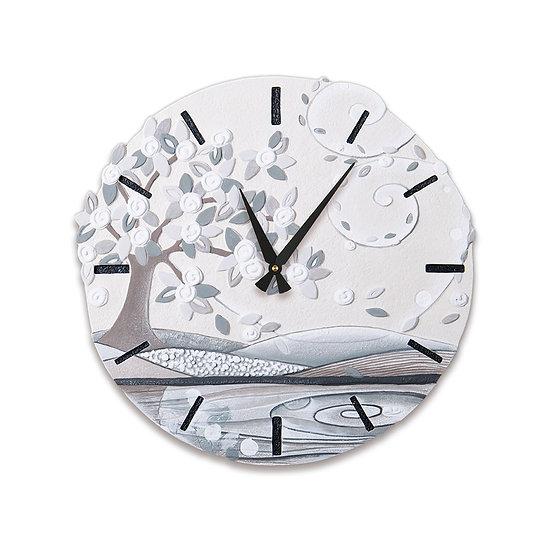 """Foglie al Vento"": orologio da parete ø 45 cm"